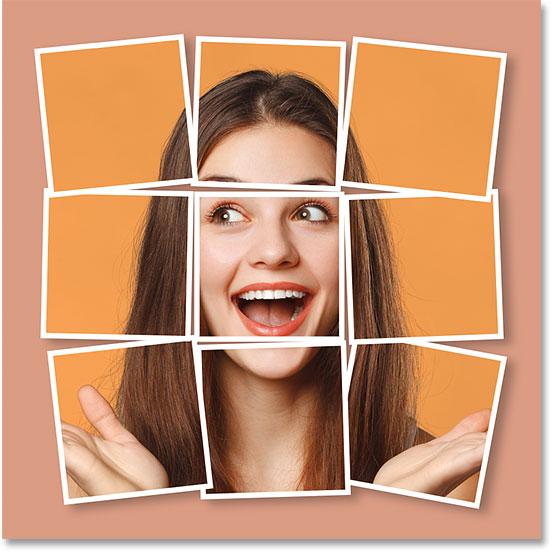 Как создать фотоколлаж из одного изображения в фотошопе