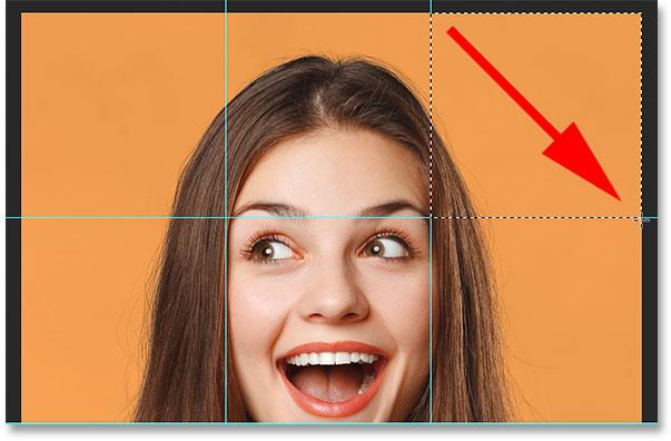 Выбор третьего квадрата на изображении.