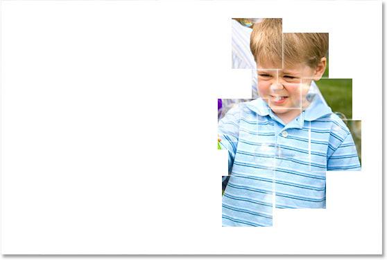 Мальчик слева теперь виден на площадях.