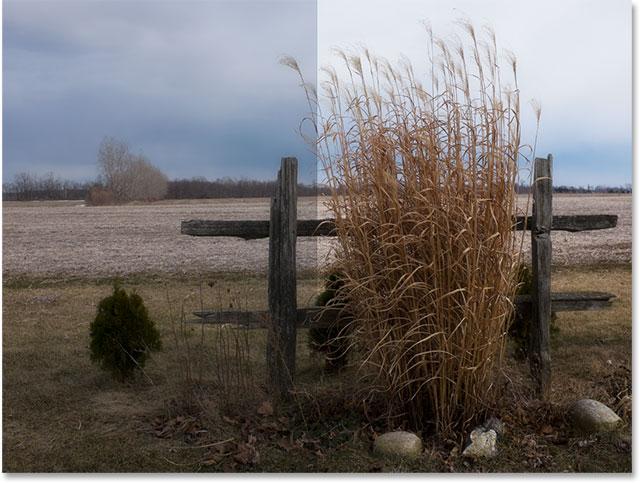 А до и после сравнения изображения.