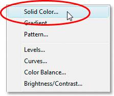 Выберите сплошной цвет