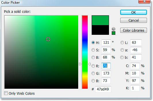 Выбор цвета в Photoshop