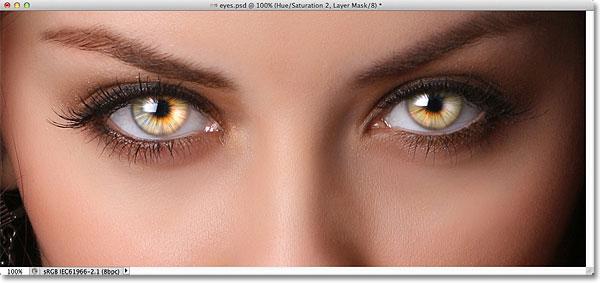 Photoshop Radial Zoom Улучшенный эффект глаз.