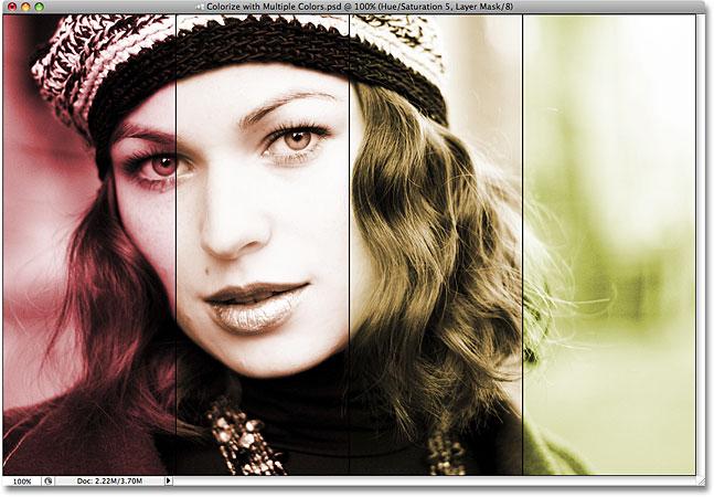 Photoshop эффект раскраски.  Изображение ©: 2008 Photoshop Essentials.com.