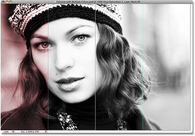 Выбор второго раздела для раскрашивания в Photoshop.