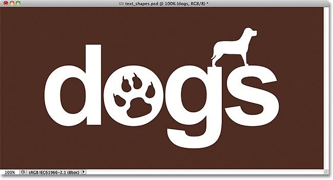 Простой логотип, созданный путем объединения текста с фигурами в Photoshop.