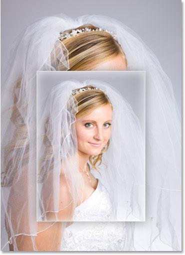 Изображение после применения трех стилей слоя в Photoshop.
