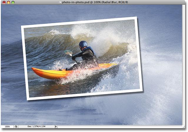 Конечный результат.  Image © 2008 Photoshop Essentials.com.