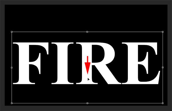 Освободить место для пламени, перемещая текст вниз в документе