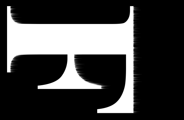 Маленькие полосы появляются по правым краям каждой буквы после применения фильтра ветра