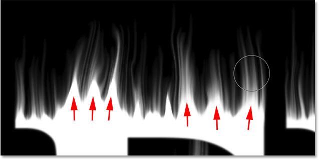 Рисование большего пламени на тексте в фотошопе