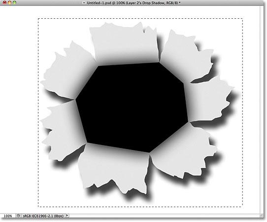 Рисование прямоугольного выделения в фотошопе.