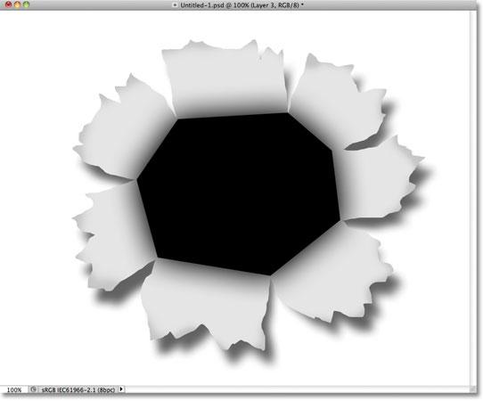 Изображение после снижения непрозрачности слоя.