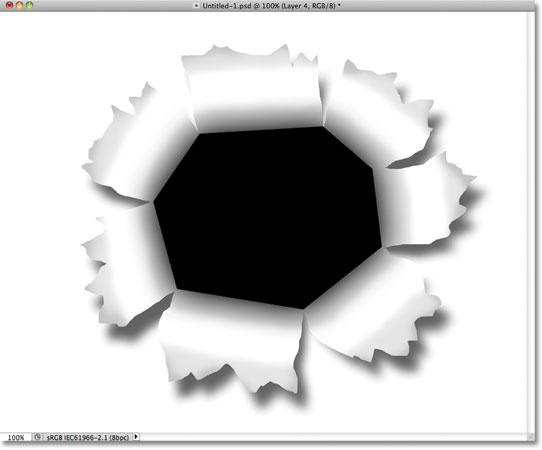Картина белым, чтобы добавить блик вокруг бумаги.