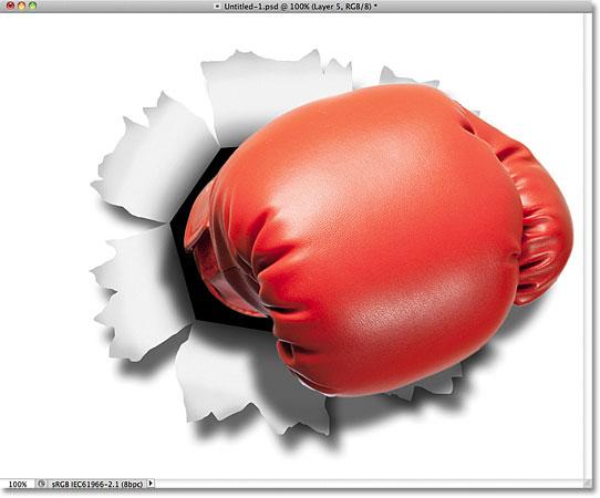 Тень боксерской перчатки.