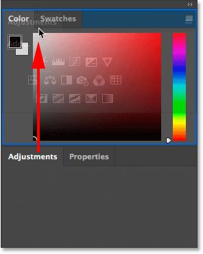 Перетаскивание панели из одной группы в другую в Photoshop.