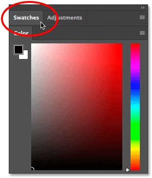 Свертывание группы панелей в Photoshop CC.