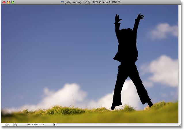 Второй силуэт теперь завершен.  Изображение лицензировано от iStockphoto.com Photoshop Essentials.com.